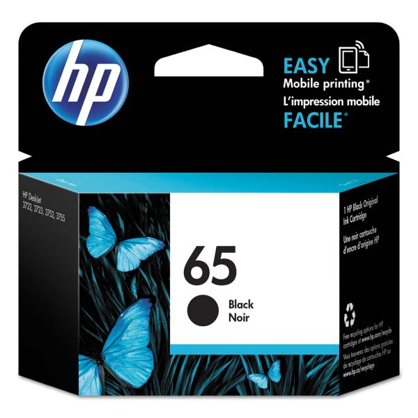 HP 65 Black Ink Cartridge (N9K02AN)