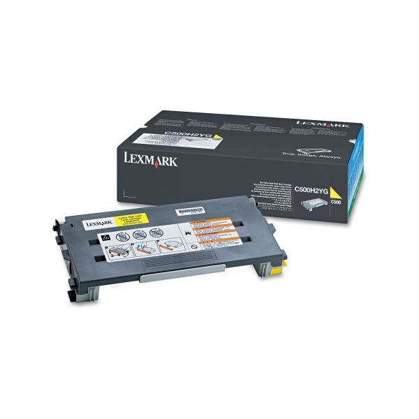Lexmark C500H2YG High-Yield Toner, 3000 Page-Yield, Yellow