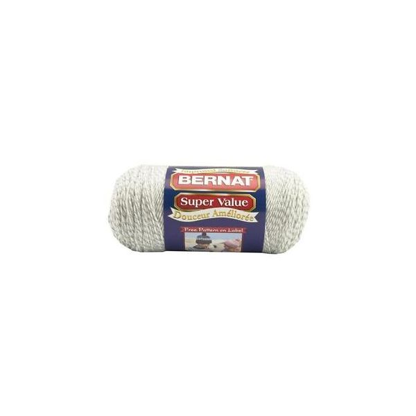 Bernat Super Value Yarn - Gray Ragg