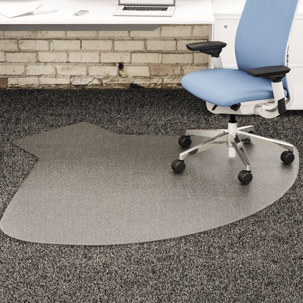 deflect-o SuperMat Medium Pile Beveled Chair Mat