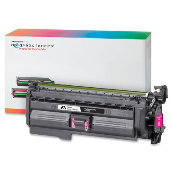 Media Sciences Remanufactured HP CE262A Magenta Toner Cartridge
