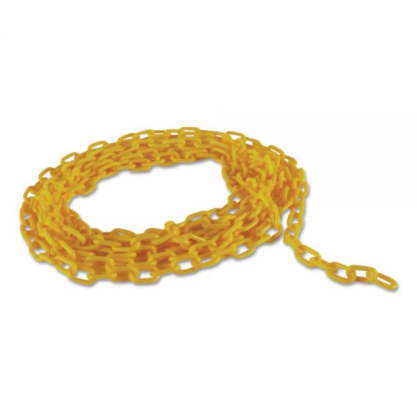 """Rubbermaid Commercial Barrier Chain, Yellow, 20"""" L"""