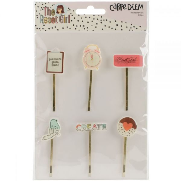 Reset Girl Decorative Clips 6/Pkg