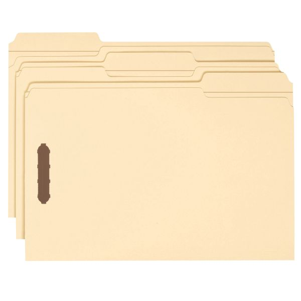 Smead Manila Heavy-Duty File Folders With Fasteners