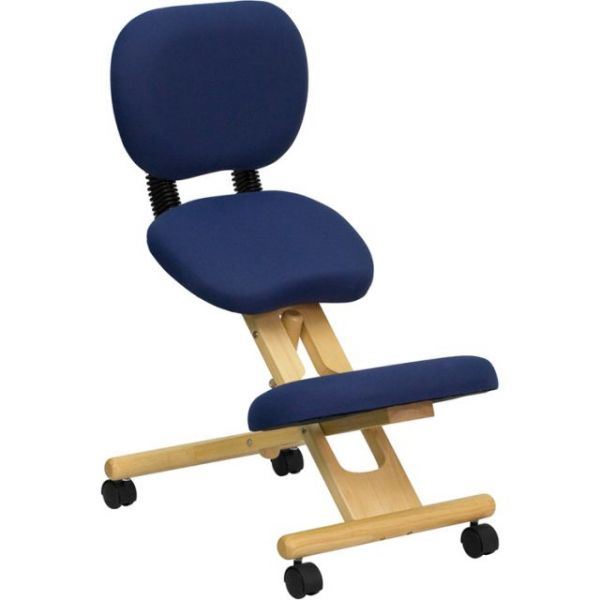 Flash Furniture Mobile Ergonomic Kneeling Posture Chair with Reclining Back