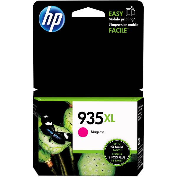 HP 935 XL High-Yield Magenta Ink Cartridge (C2P25AN)