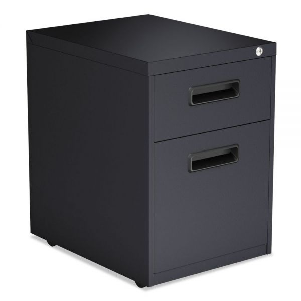 Alera Two-Drawer Metal Pedestal File, 14 7/8w x 19 1/8d x 21 3/4h, Charcoal