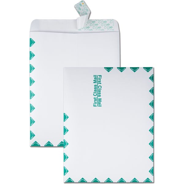 Quality Park Redi Strip Catalog Envelope, First Class, 10 x 13, White, 100/Box
