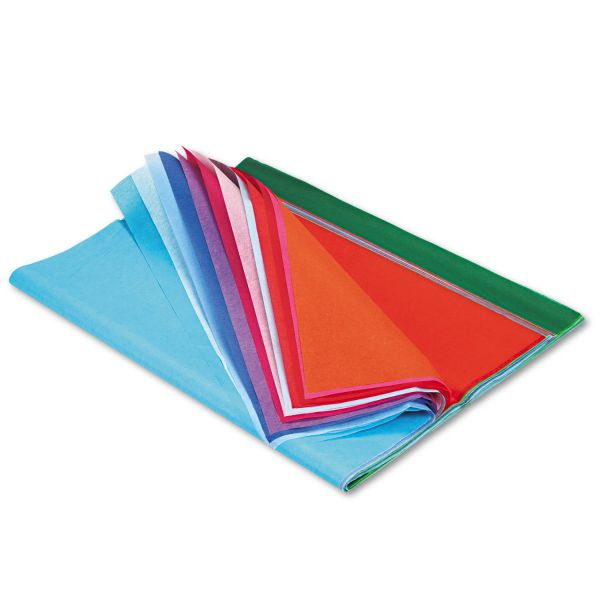 Pacon Spectra Art Tissue, 10 lbs., 20 x 30, 20 Assorted Colors, 100 Sheets/Pack