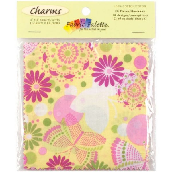 "Flutterby Charm Pack 5""X5"" 20/Pkg"