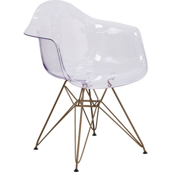 Flash Furniture Allure Series Transparent Side Chair