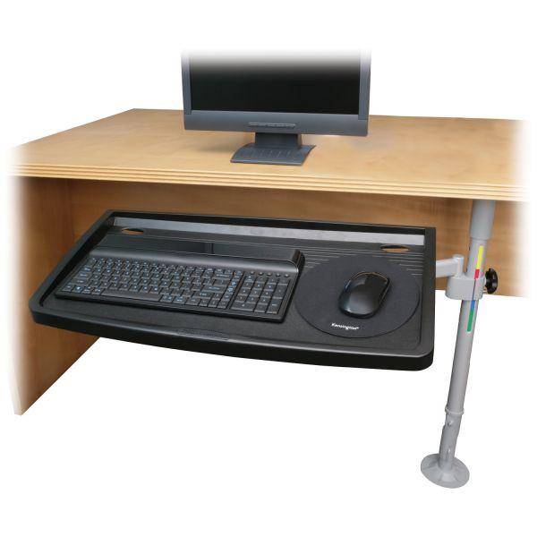Kensington SnapLock Adjustable Keyboard Tray with SmartFit System, 26w x 13-1/2d, Gray