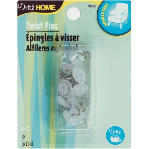 Upholstery Decorative Twist Pins 12mm 10/Pkg