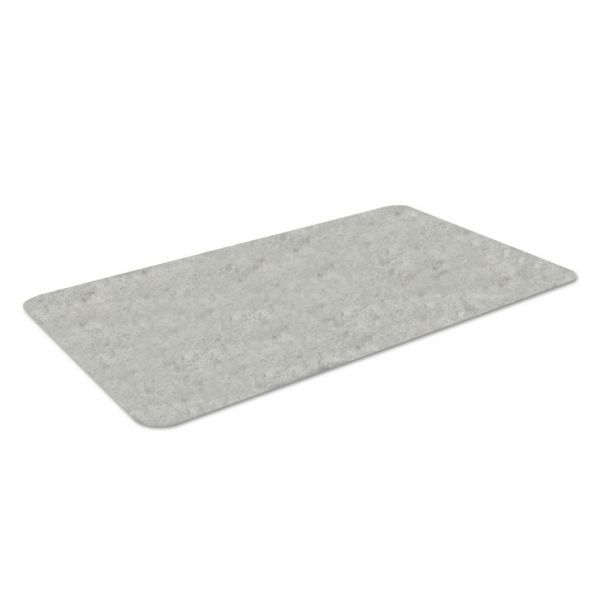 Crown Workers-Delight Slate Standard Anti-Fatigue Mat, 36 x 60, Light Gray