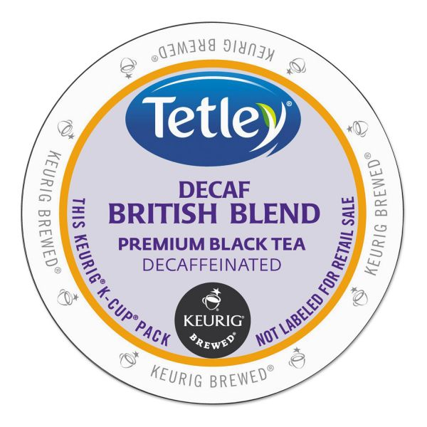 Tetley British Blend Decaf Premium Black Tea K-Cups