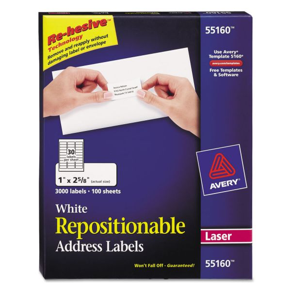 Avery Repositionable Address Labels