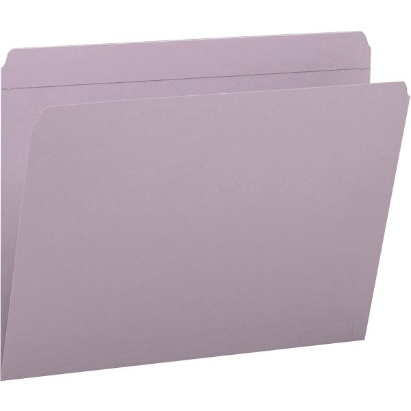 Smead 12410 Lavender Colored File Folders with Reinforced Tab