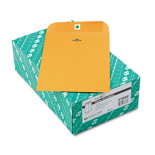 "Quality Park Gummed 7"" x 10"" Clasp Envelopes"