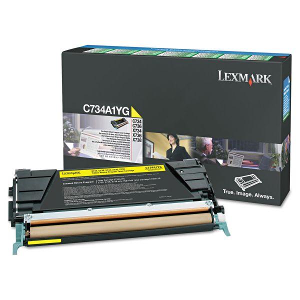 Lexmark C748H1YG Yellow High Yield Return Program Toner Cartridge