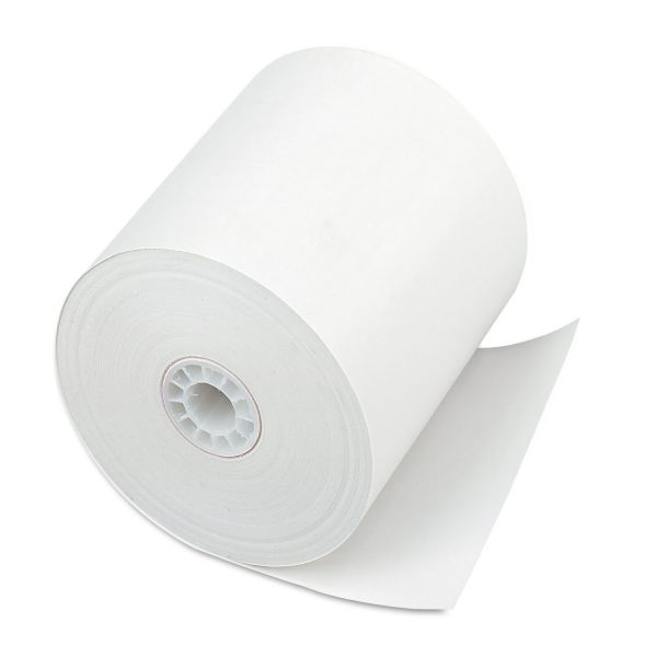 "PM Company Single Ply Thermal Cash Register/POS Rolls, 3"" x 225 ft., White, 24/CT"