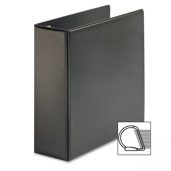 "Cardinal Easy Open Locking 3-Ring Binder, 4"" Capacity, Slant-D Ring, Black"