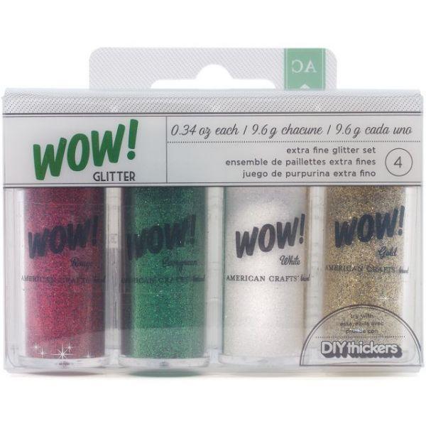 WOW! Extra Fine Glitter .34oz 4/Pkg