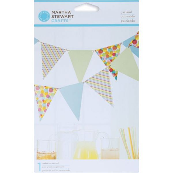 Modern Festive Pennant Garland Kit Makes 1