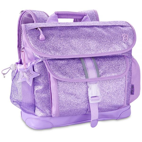 Bixbee Sparkalicious Purple Kids Glitter Backpack - Medium