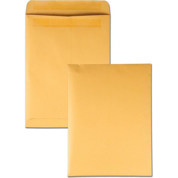 Quality Park Redi Seal Catalog Envelope, 9 x 12, Brown Kraft, 100/Box