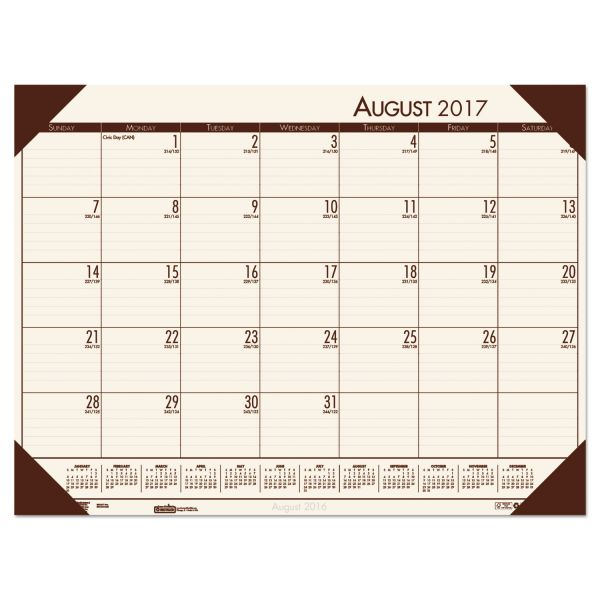 House of Doolittle EcoTones Academic Monthly Desk Pad Calendar