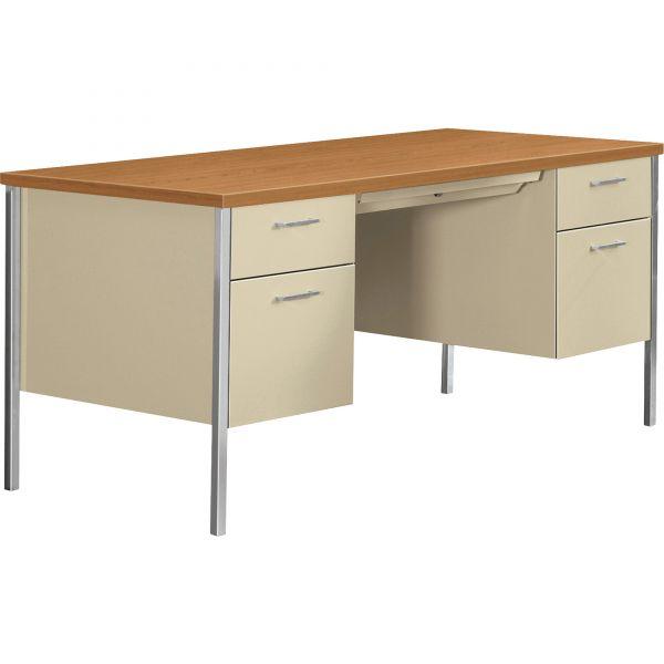 """HON 34000 Series Double Pedestal Desk   2 Box / 2 File Drawers   60""""W"""