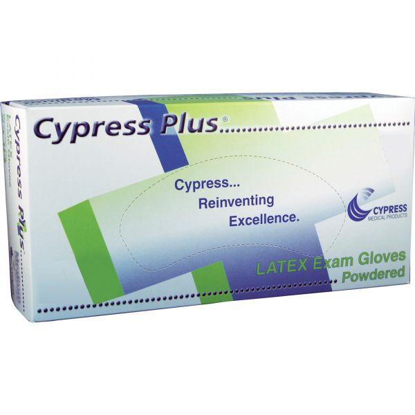 Cypress Plus Lightly Powdered Latex Exam Gloves