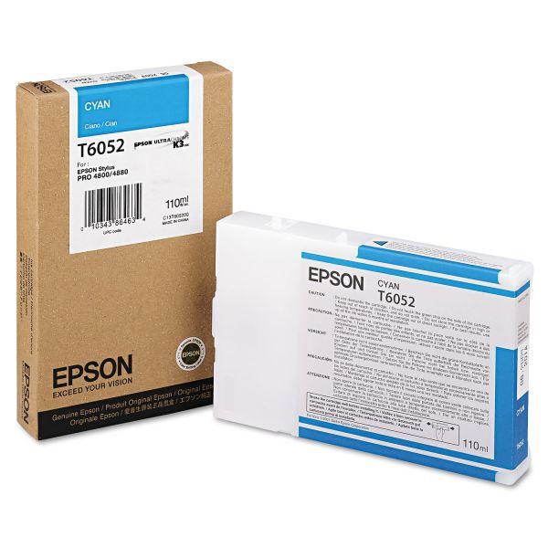 Epson T605200 (60) Ink, Cyan