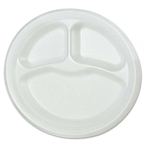 """SOLO Cup Company 9"""" Foam Compartment Plates"""
