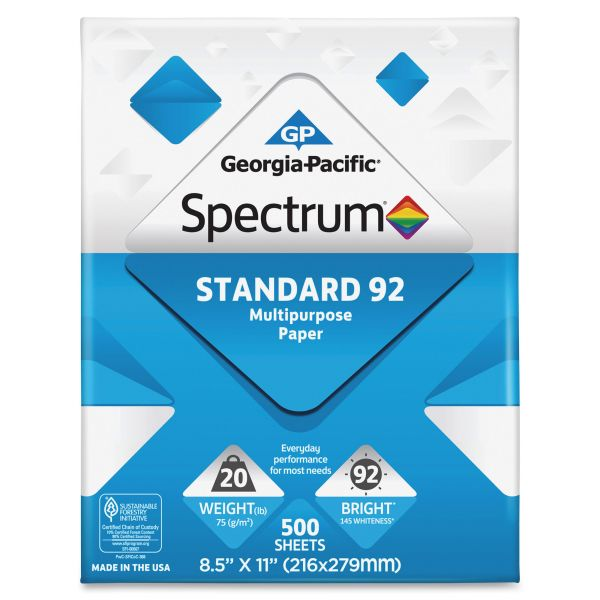 Spectrum Standard 92 Multi-Purpose White Copy Paper