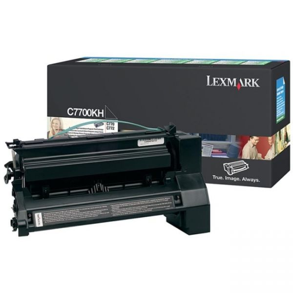 Lexmark C7700KH Black High Yield Return Program Toner Cartridge