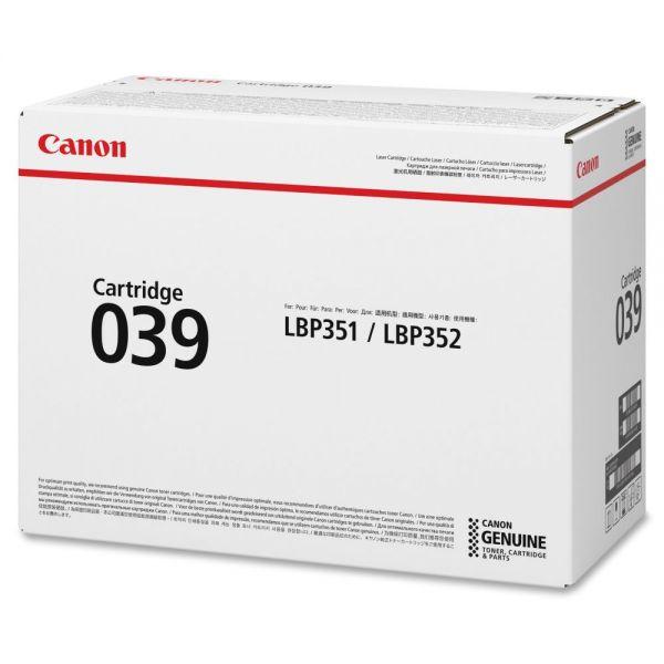 Canon 039 Black Toner Cartridge (CARTRIDGE039)