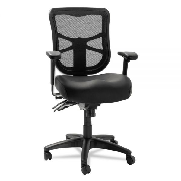 Alera Elusion Series Mid-Back Multifunction Leather Office Chair