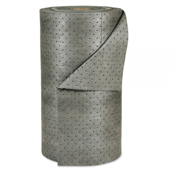 "SPC MRO Plus Medium Sorbent-Pad Roll, 38gal, 30"" x 150ft, Gray"