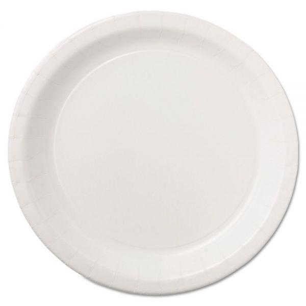 "Hoffmaster Coated Paper Dinnerware, Plate, 9"", White, 50/Pack, 10 Packs/Carton"