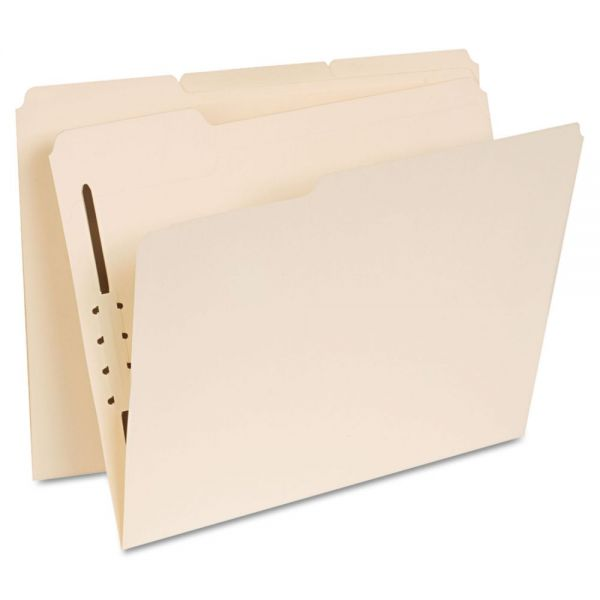Universal Manila File Folders With Fasteners