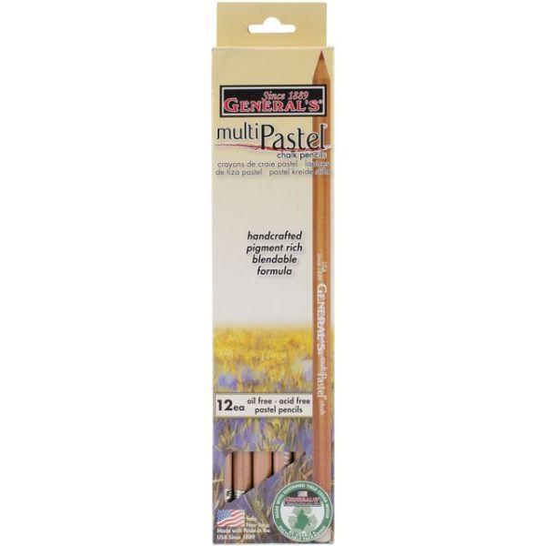 MultiPastel Chalk Pencils 12/Pkg