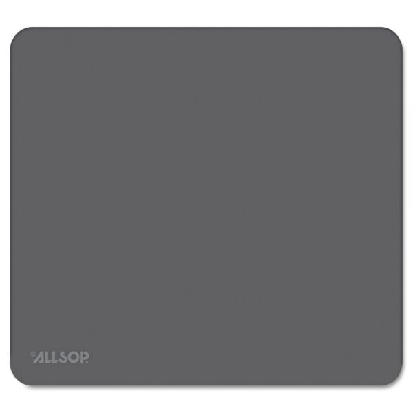"Allsop Accutrack Slimline Mouse Pad, Graphite, 8 3/4"" x 8"""