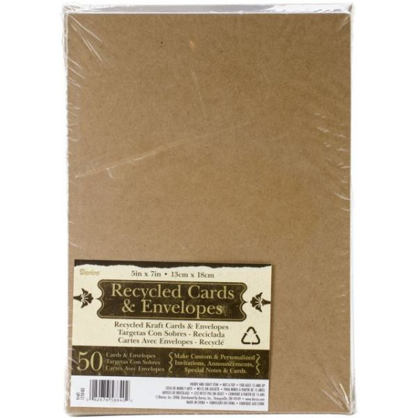 "Heavyweight A7 Cards/Envelopes (5.25""X7.25"") 50/Pkg"