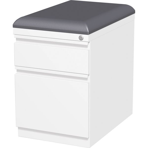 Lorell 2-Drawer Mobile File Cabinet with Seating