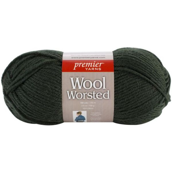 Premier Wool Worsted Yarn - Green