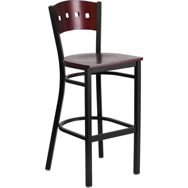 Flash Furniture HERCULES Series Decorative 4 Square Back Barstool