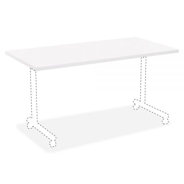 Lorell White Laminate Rectangular Invent Tabletop