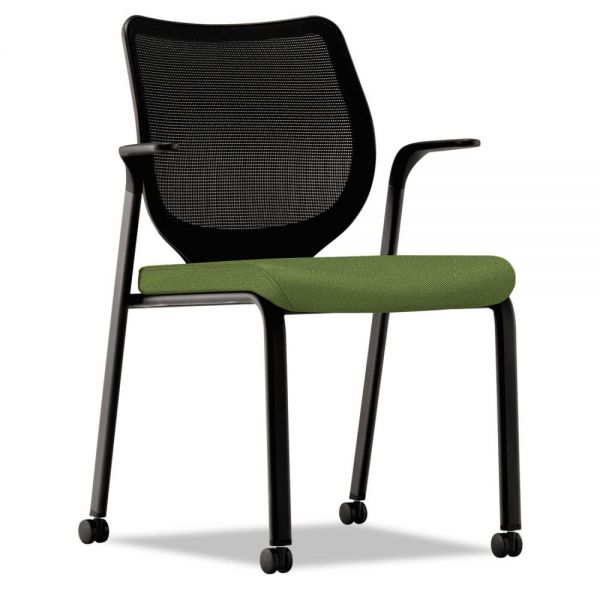 HON Nucleus Series Multipurpose Chair, Black ilira-stretch M4 Back, Clover/Black