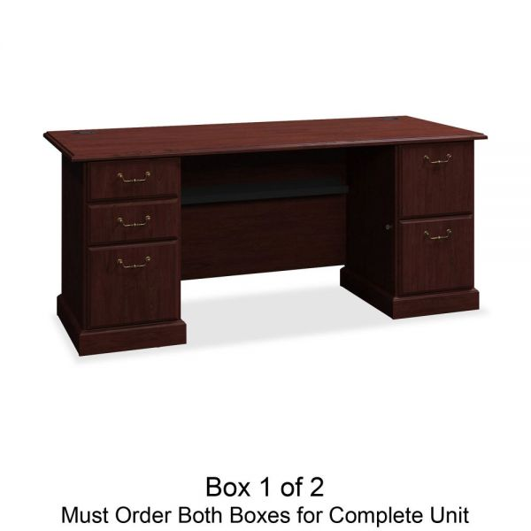 bbf Syndicate Pedestal Office Desk by Bush Furniture *Box 1 of 2